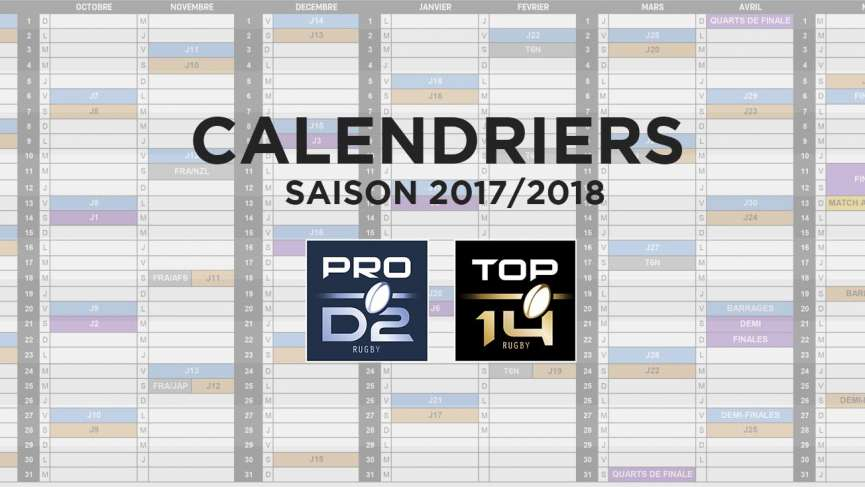 Calendrier rencontre top 14 2016