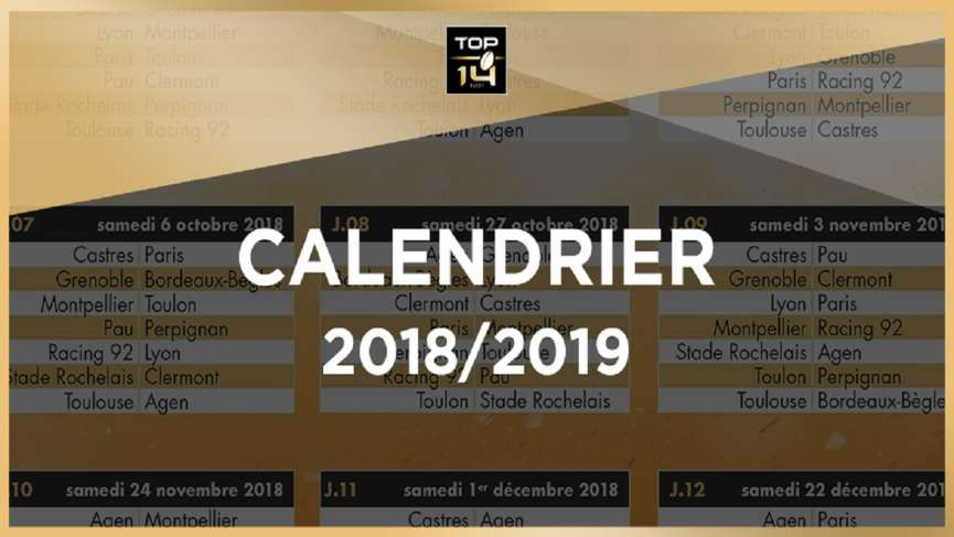 USON Nevers Rugby - Calendrier